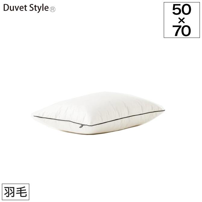 枕 まくら Hotel collection フェザー ピロー M 約50×70cm 日本製 羽毛 抗菌防臭加工 手洗いOK