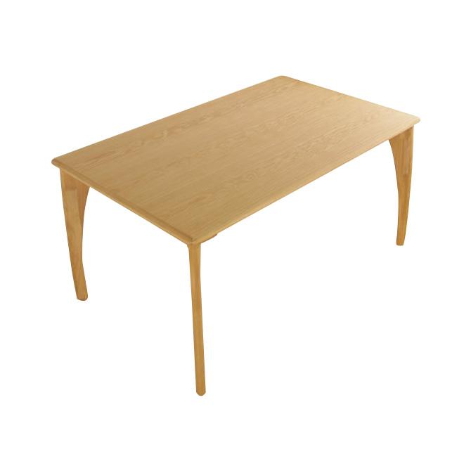 北欧調 木製ダイニングテーブル 150cm BOSCO+plus「Krone」クローネ ダイニングテーブル 天然木 の素材感 ダイニング リビング ホワイトオーク材 家族 食卓 食事テーブル カラー「ナチュラル」と「ライトブラウン」2色展開 Dining Table