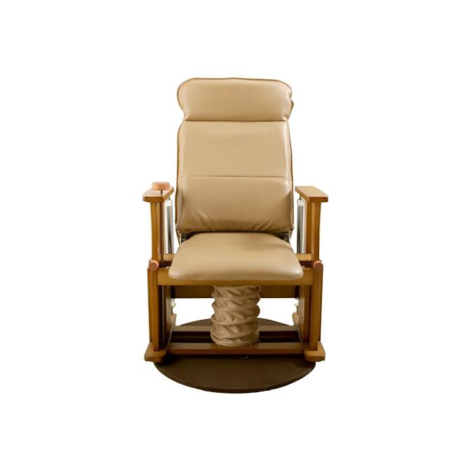 座椅子 木製高座椅子 ハイタイプDX 回転付 国産 肘掛け付 立上りサポート座面下にバネの力 脚 腰 膝の負担軽減 起立補助椅子 体重45-75kgの方に 背部4段階リクライニング 高座いす 座イス 肘付き リフトアップチェア 昇降椅子 送料無料 一人掛け 1人掛け