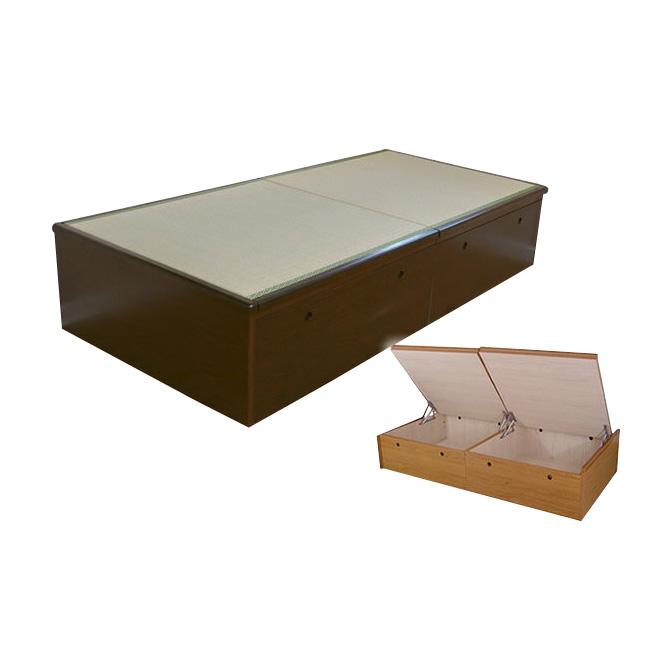 【送料無料】畳跳ね上げ式収納付畳ベッド セミダブル 収納付き 収納ベッド 収納ベット 跳ね上げベッド たたみベッド 畳ベット 跳ね上げ式ベッド 大容量 大量 収納付きベッド