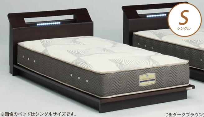 ベッドフレーム アディール シングル NA(ナチュラル) BR(ブラウン) DB(ダークブラウン) 木製ベッド シングルベッド ローベッド 棚付き 照明付き フレームのみ チェストベッド ドッキングタイプ すのこタイプ 幅木よけ付き  Granz  グランツ