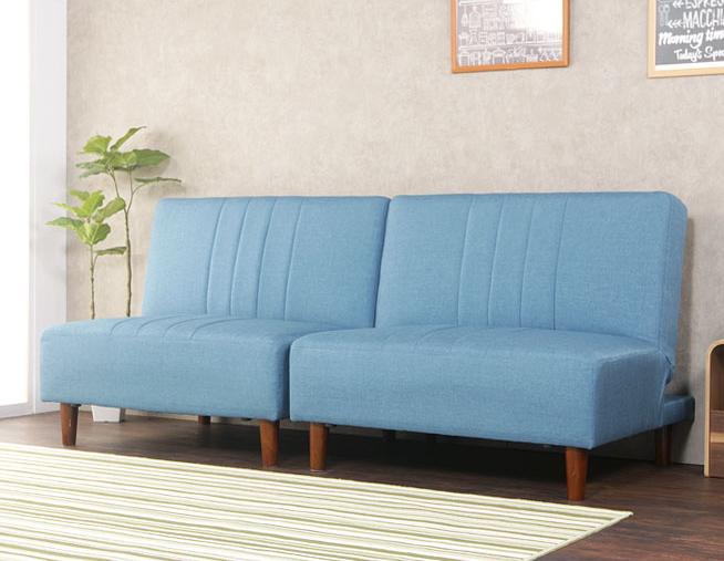 ソファーベッド シングル 3人掛け ファブリック セパレート 分割式 リクライニング 木製 脚付き 着脱可能
