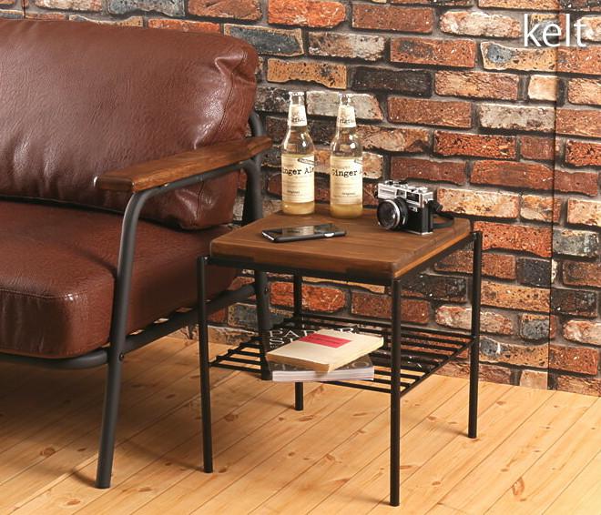 スツール パイン材 ヴィンテージ レトロ サイドテーブル 天然木 木製 カフェ風 完成品 ブラウン ケルト kelt