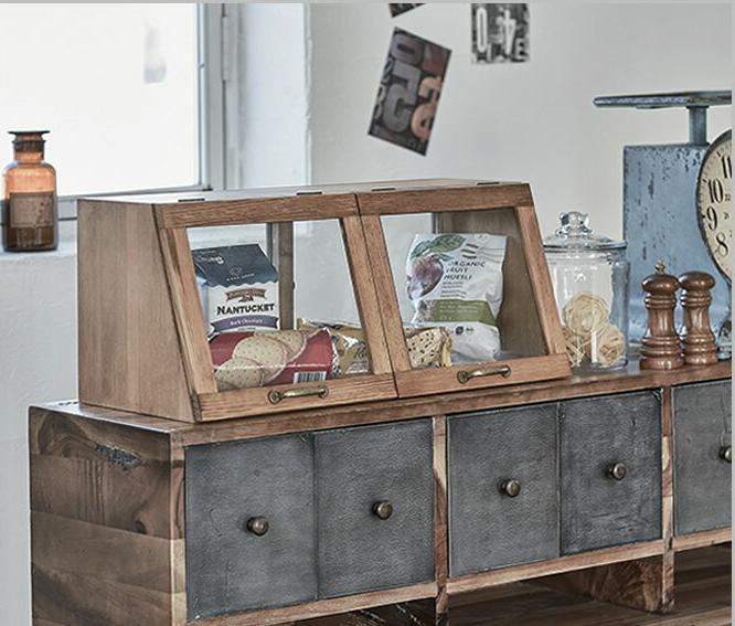 キッチン 収納 カウンター上収納 キッチンカウンター ガラス レトロ 木製 調味料ラック 調味料 棚 おしゃれ 北欧 スパイス 台所収納 ガラスケース 幅60×奥行25×高さ25cm