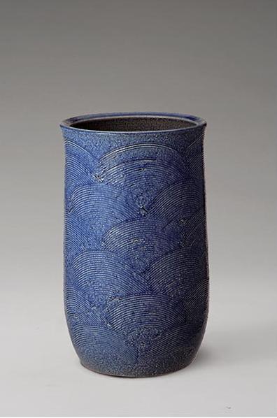 青海波傘立 伝統的な味わいのある信楽焼き 傘立て 傘入れ 和テイスト 陶器 日本製 信楽焼 傘収納 焼き物 和風 しがらき