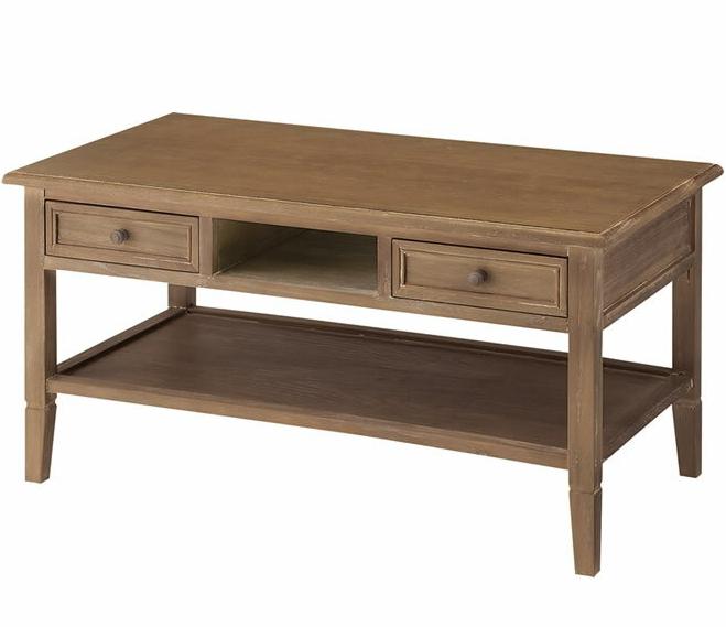 テーブル センターテーブル 幅90cm Aube オーブ アメリカ西海岸風 桐 天然木 棚付き 引出し付き ローテーブル アメリカンビンテージ レトロ 木製 リビングテーブル