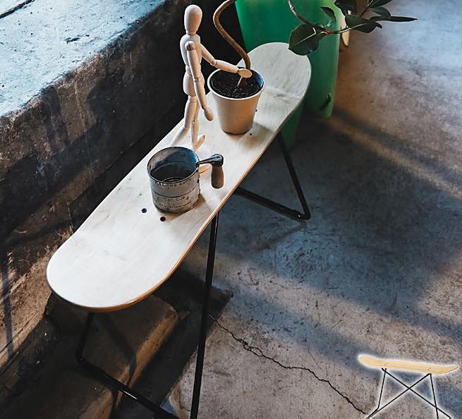 \ポイント10倍★8/15・16限定★/ スツール イス チェア スケートボード スツール ナチュラル 幅81cm スケボーチェア アメリカ西海岸風 ベンチスツール アメリカンビンテージ レトロ 長椅子