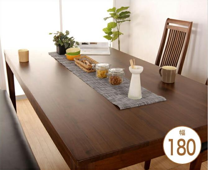 ダイニングテーブル 木製 ウォールナット 無垢材 幅180 4人掛け ブラウン | ダイニングテーブル 木製 無垢材 無垢 ウォールナット ウォールナット無垢材 天然木 無垢材ダイニングテーブル ウォルナット 180 幅180 4人 4人掛け 食卓テーブル モダン