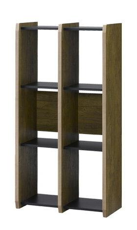 シェルフ 高さ120cm 幅60cm 棚 本棚 ブックシェルフ オープンシェルフ ラック ディスプレイラック 間仕切り ビンテージ 木製