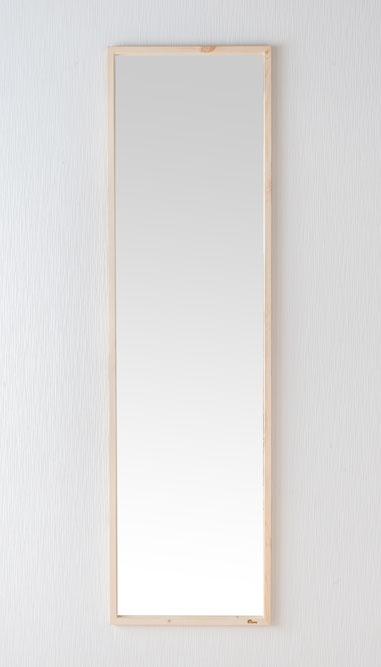 鏡 天然木 スタンドミラー ジャンボミラー 幅約43.6cm 高さ約155.4cm Foresta フォレスタ 姿見 レッドパイン 木製フレーム ドレスアップミラー 赤松