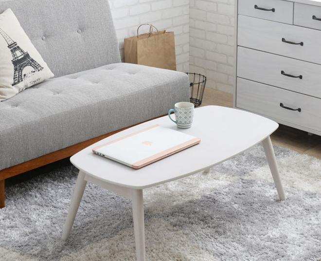 センターテーブル ホワイト 幅90cm 脚折りたたみ可 リビングテーブル スクエア 長方形 ローテーブル 木製[byおすすめ]