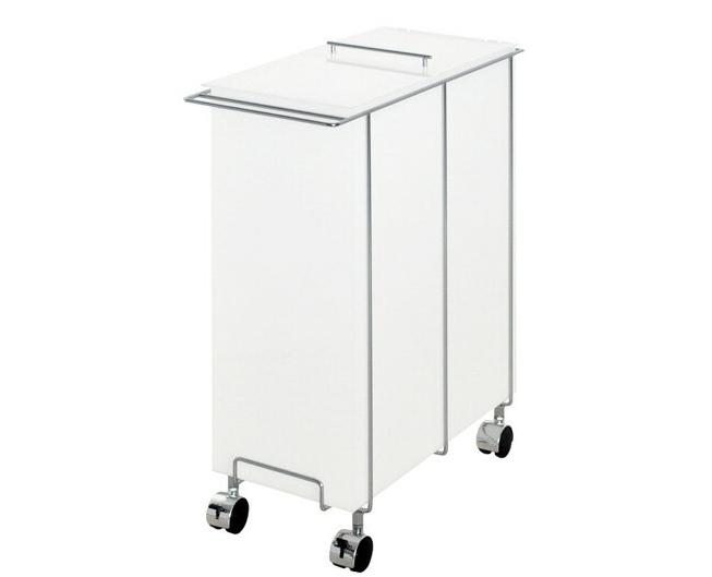 ダストボックス スリム アクリル ダストボックス 45L 日本製 キャスター付きダストボックス ゴミ箱 ごみ箱 ダストボックス アクリル製 乳白色 ホワイト 白 シンプル 国産 [送料無料]