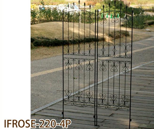 アイアンローズフェンス220 4枚組 (IFROSE-220-4P)簡単設置 ガーデニング ガーデンフェンス アイアン 柵 庭 園芸 エクステリア ローズ 薔薇 バラ ハイタイプ
