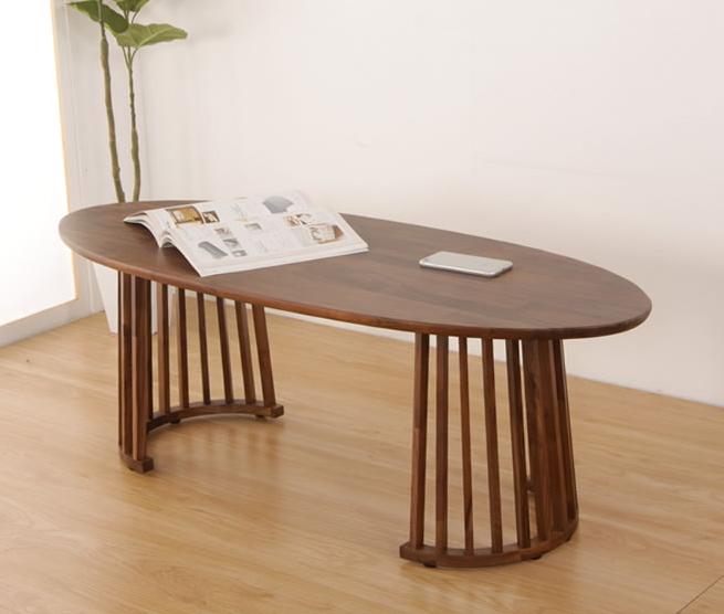 ローテーブル テーブル 丸 木 おしゃれ 天然木 シンプル ブラウン 木製 リビング モダン 木目 オシャレ パソコン かわいい 単品 高級感 ウォールナット 新生活 リビングテーブル ダークブラウン カントリー ビンテージ モダンな印象の楕円形テーブル