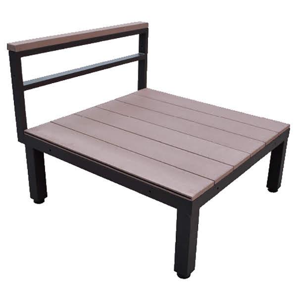 ウッドデッキ 人工木 人工木ユニットデッキ シングル ブラウン