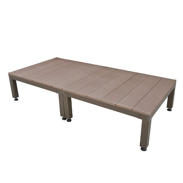 ウッドデッキ 人工木 オープンタイプ 2点セット 0.5坪 ブラウン