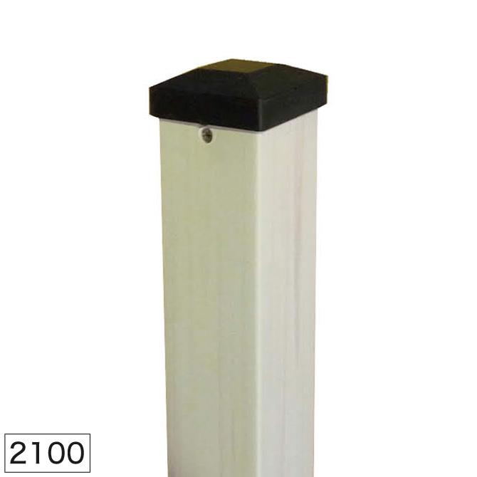 ウッドプラ60角ポスト2100 ホワイト