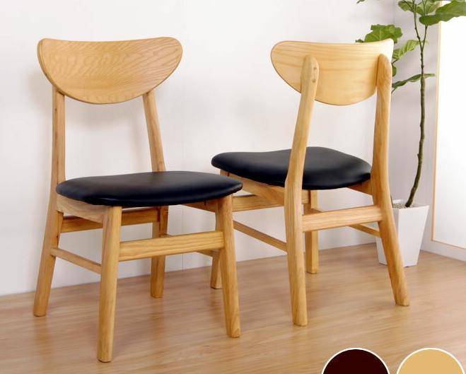 \クーポンで300円OFF★16日1:59まで★/ 木製ダイニングチェア2脚 天然木 背もたれ 木製チェア 食事椅子 いす アームなし ダイニングチェア 椅子 木製 ナチュラル シンプル