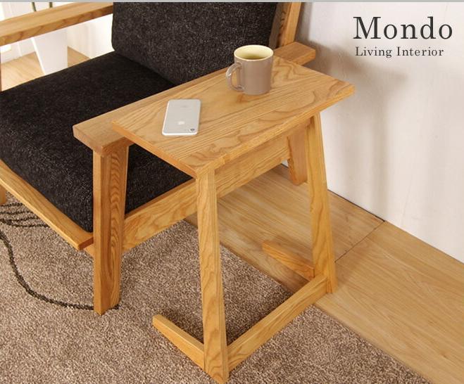 サイドテーブル 天然木タモ無垢材 25×45cm 高さ59cm 木製 木製テーブル ナイトテーブル ソファーサイドテーブル ナチュラル シンプル モダン おしゃれ 北欧