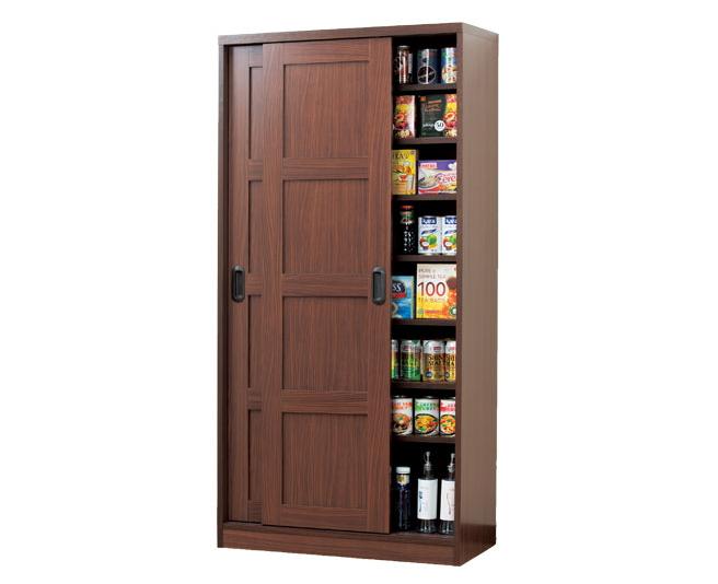 収納庫 室内収納庫 引き戸式 木製 本棚 可動棚 大量収納