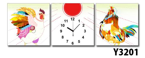 \クーポンで300円OFF★16日1:59まで★/ 【代引不可/】日本初!300種類以上のデザインから選ぶパネルクロック◆3枚のアートパネルの壁掛け時計◆hOur DesignY3201【Nao Furusawa】【古澤ナオ】【desginer】