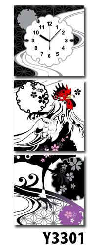 【代引不可/】日本初!300種類以上のデザインから選ぶパネルクロック◆3枚のアートパネルの壁掛け時計◆hOur DesignY3301【Miyabi Tukii】【月井雅】【desginer】 送料無料