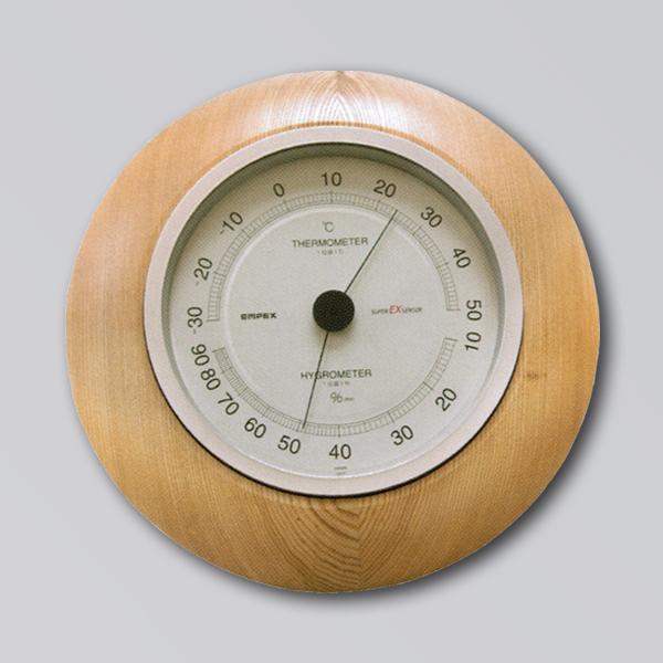 【送料無料】旭川クラフト 木製置・掛両用温湿度計 幅23.5×奥行4.5×高さ23.5cm 木目の美しいタモ材を使用した温湿度計 風邪の予防に! 日本製・手作り・クラフト・北海道・旭川クラフト・ササキ工芸