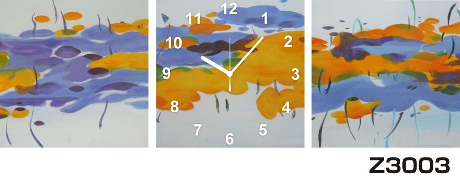 日本初!300種類以上のデザインから選ぶパネルクロック◆3枚のアートパネルの壁掛け時計◆hOur DesignZ3003【アート】【代引不可】 送料無料