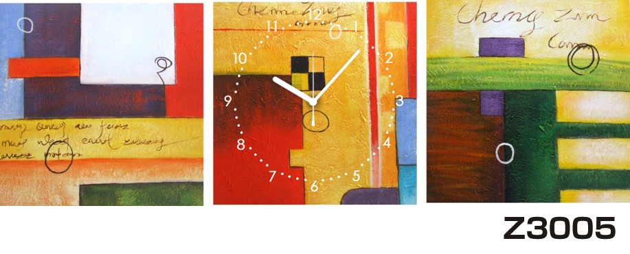 日本初!300種類以上のデザインから選ぶパネルクロック◆3枚のアートパネルの壁掛け時計◆hOur DesignZ3005【アート】【代引不可】 送料無料