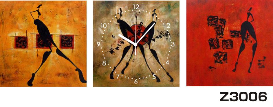 日本初!300種類以上のデザインから選ぶパネルクロック◆3枚のアートパネルの壁掛け時計◆hOur DesignZ3006【アート】【代引不可】 送料無料