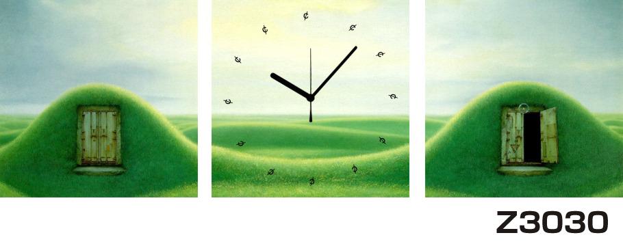 日本初!300種類以上のデザインから選ぶパネルクロック◆3枚のアートパネルの壁掛け時計◆hOur DesignZ3030丘【自然】【風景】【イラスト】【アート】【海・空】【代引不可】 送料無料