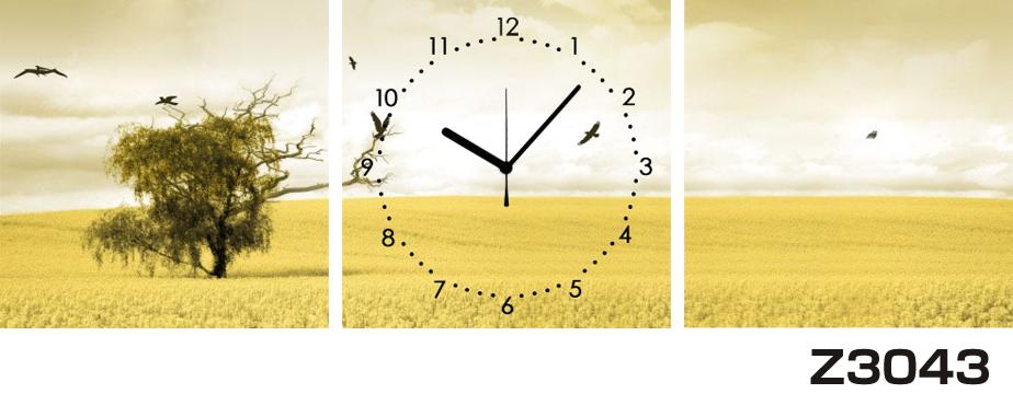 日本初!300種類以上のデザインから選ぶパネルクロック◆3枚のアートパネルの壁掛け時計◆hOur DesignZ3043【風景】【海・空】【自然】【代引不可】 送料無料