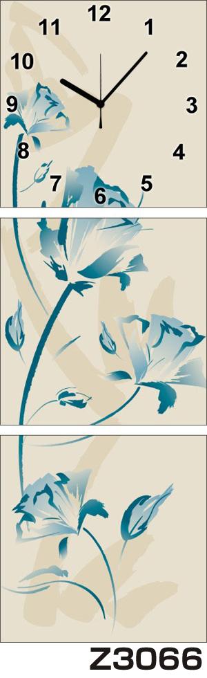 日本初!300種類以上のデザインから選ぶパネルクロック◆3枚のアートパネルの壁掛け時計◆hOur DesignZ3066【アート】【花】【代引不可】 送料無料