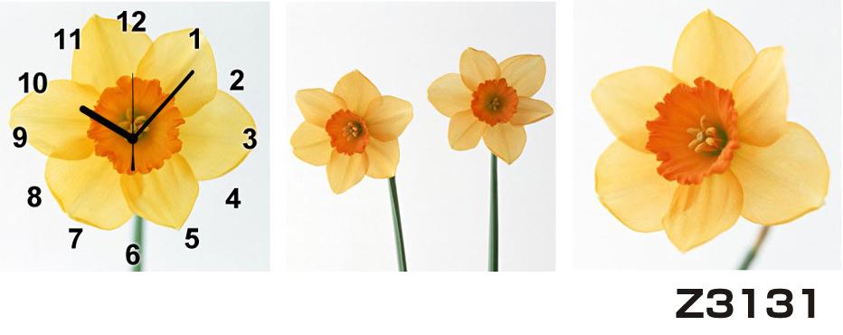 日本初!300種類以上のデザインから選ぶパネルクロック◆3枚のアートパネルの壁掛け時計◆hOur DesignZ3131【花】【代引不可】 送料無料