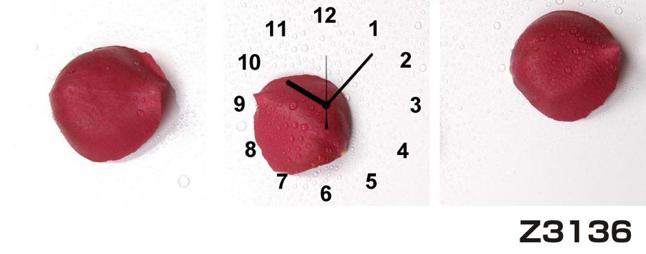 日本初!300種類以上のデザインから選ぶパネルクロック◆3枚のアートパネルの壁掛け時計◆hOur DesignZ3136【花】【代引不可】 送料無料