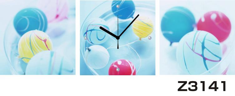 日本初!300種類以上のデザインから選ぶパネルクロック◆3枚のアートパネルの壁掛け時計◆hOur DesignZ3141水風船【アート】【アジア】【代引不可】 送料無料