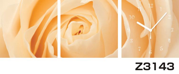 \クーポンで300円OFF★16日1:59まで★/ 日本初!300種類以上のデザインから選ぶパネルクロック◆3枚のアートパネルの壁掛け時計◆hOur DesignZ3143薔薇【花】【代引不可】 送料無料
