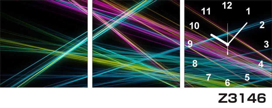 日本初!300種類以上のデザインから選ぶパネルクロック◆3枚のアートパネルの壁掛け時計◆hOur DesignZ3146光線【アート】【代引不可】 送料無料