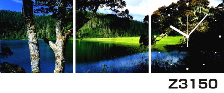 日本初!300種類以上のデザインから選ぶパネルクロック◆3枚のアートパネルの壁掛け時計◆hOur DesignZ3150湖 山【風景】【海・空】【自然】【代引不可】 送料無料