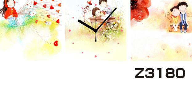 日本初!300種類以上のデザインから選ぶパネルクロック◆3枚のアートパネルの壁掛け時計◆hOur DesignZ3180女の子 男の子 【イラスト】【代引不可】 送料無料
