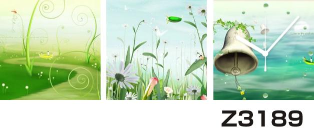 日本初!300種類以上のデザインから選ぶパネルクロック◆3枚のアートパネルの壁掛け時計◆hOur DesignZ3189【イラスト】【アート】【花】【代引不可】 送料無料