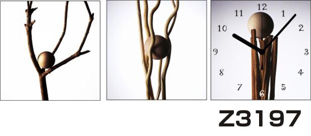 日本初!300種類以上のデザインから選ぶパネルクロック◆3枚のアートパネルの壁掛け時計◆hOur DesignZ3197球体 枝【アート】【代引不可】 送料無料