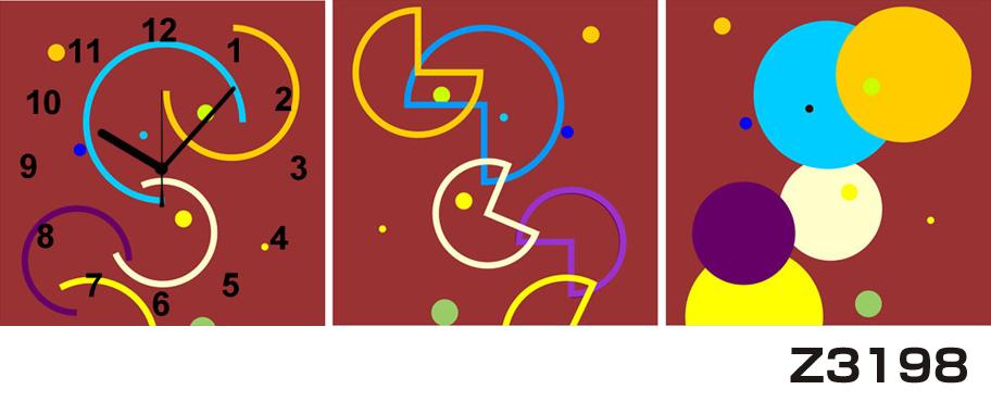 日本初!300種類以上のデザインから選ぶパネルクロック◆3枚のアートパネルの壁掛け時計◆hOur DesignZ3198【アート】【代引不可】 送料無料
