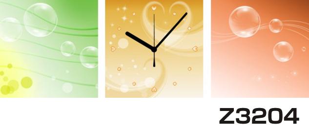 日本初!300種類以上のデザインから選ぶパネルクロック◆3枚のアートパネルの壁掛け時計◆hOur DesignZ3204【イラスト】【アート】【代引不可】 送料無料