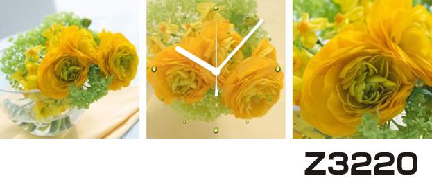 日本初!300種類以上のデザインから選ぶパネルクロック◆3枚のアートパネルの壁掛け時計◆hOur DesignZ3220【花】【代引不可】 送料無料
