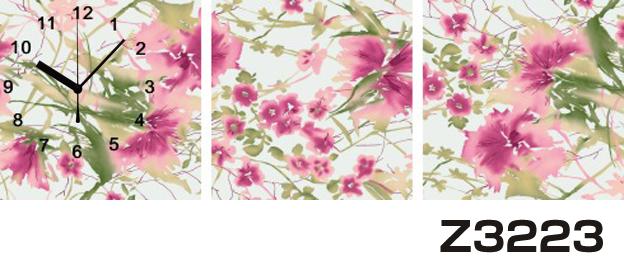 日本初!300種類以上のデザインから選ぶパネルクロック◆3枚のアートパネルの壁掛け時計◆hOur DesignZ3223【イラスト】【アート】【花】【代引不可】 送料無料