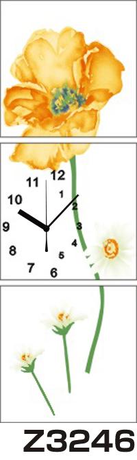 日本初!300種類以上のデザインから選ぶパネルクロック◆3枚のアートパネルの壁掛け時計◆hOur DesignZ3246【アート】【花】【代引不可】 送料無料
