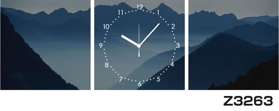 日本初!300種類以上のデザインから選ぶパネルクロック◆3枚のアートパネルの壁掛け時計◆hOur DesignZ3263山【アート】【風景】【海・空】【自然】【代引不可】 送料無料