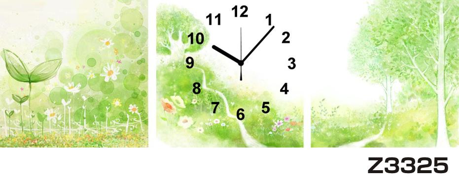 日本初!300種類以上のデザインから選ぶパネルクロック◆3枚のアートパネルの壁掛け時計◆hOur DesignZ3325【アート】【自然】【代引不可】 送料無料