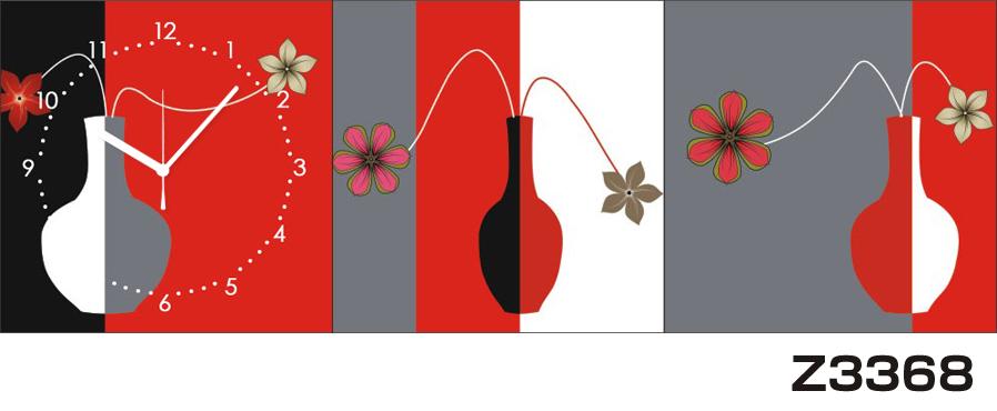 日本初!300種類以上のデザインから選ぶパネルクロック◆3枚のアートパネルの壁掛け時計◆hOur DesignZ3368【アート】【代引不可】 送料無料